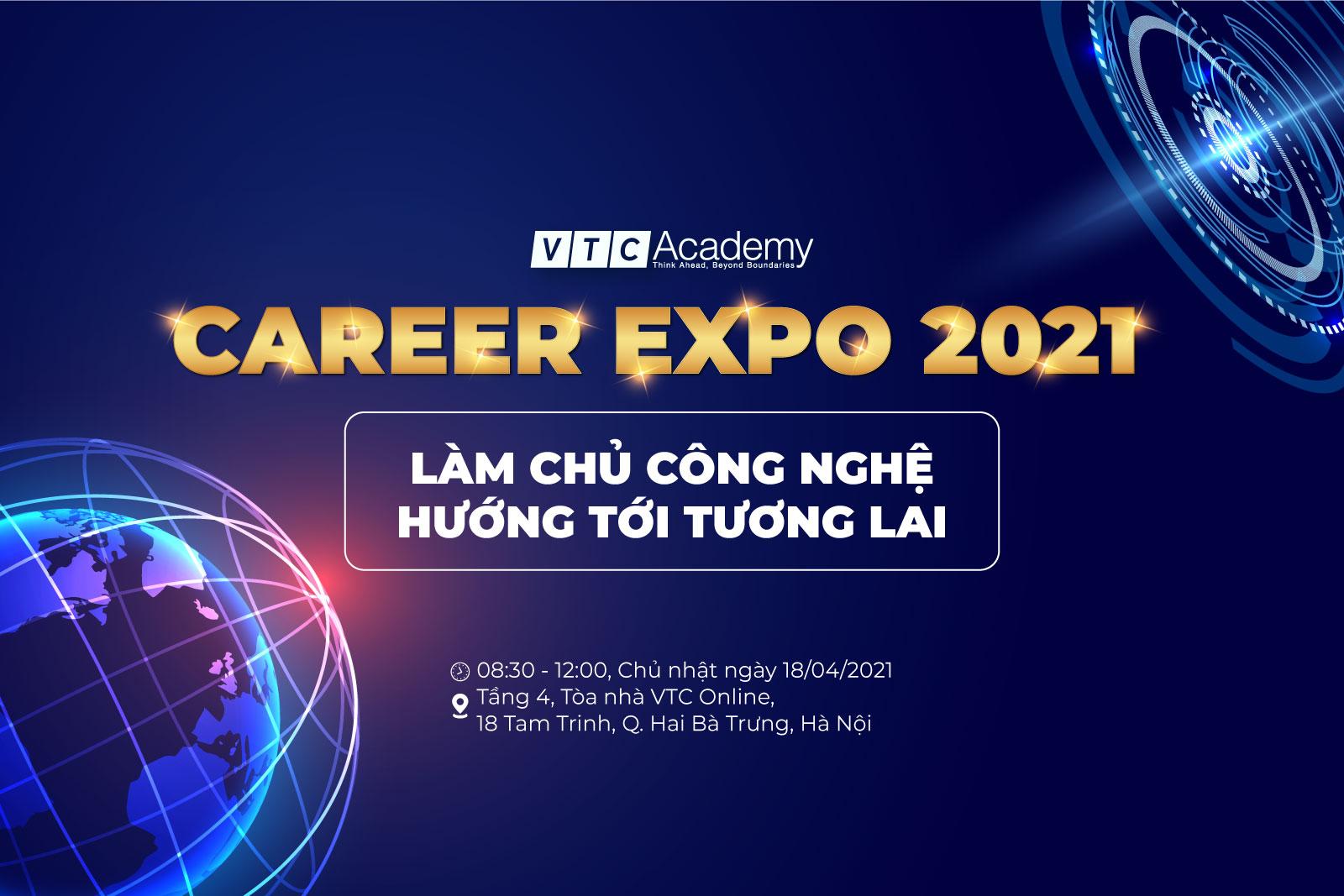 """Ngày hội tuyển dụng """"VTC Academy Career Expo 2021"""" tại Hà Nội"""